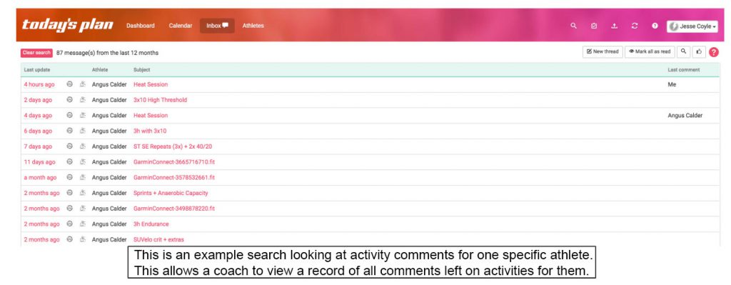 Search filter example