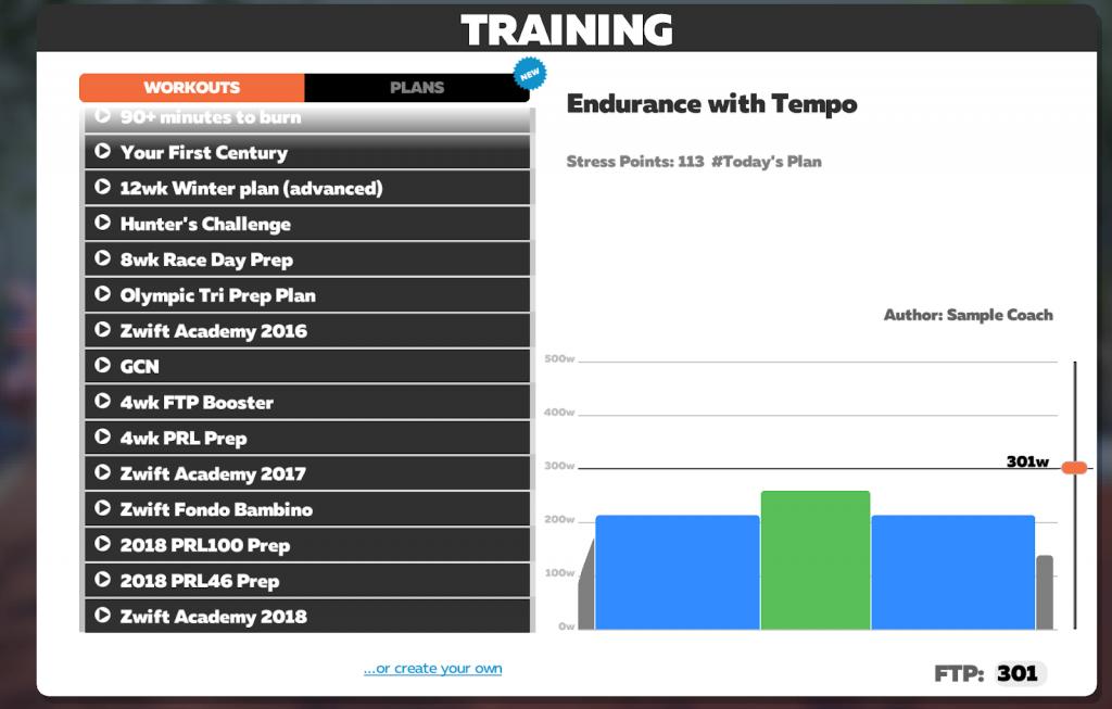 Zwift Training