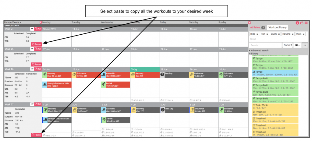 Workout scheduling flexibility
