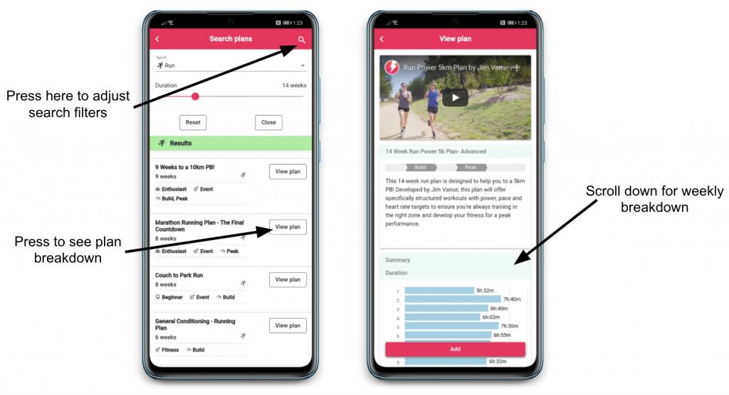 Plans now in App